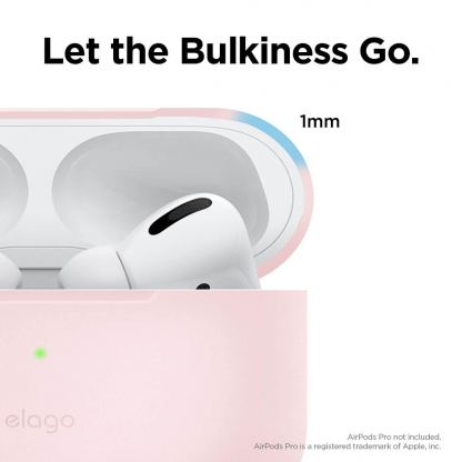 Elago Airpods Slim Basic Silicone Case - тънък силиконов калъф за Apple Airpods Pro (розов) 4