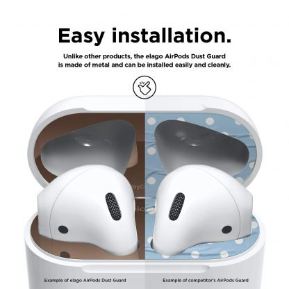 Elago AirPods Dust Guard - комплект метални предпазители против прах за Apple Airpods 2 with Wireless Charging Case (розово злато) 4