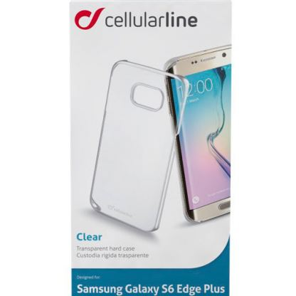 Прозрачен твърд кейс Cellular Line за Samsung Galaxy S6 edge Plus 2