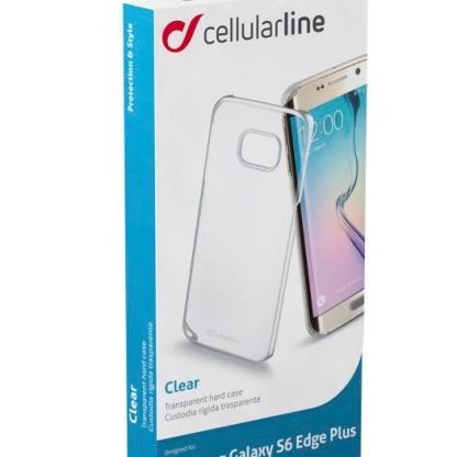 Прозрачен твърд кейс Cellular Line за Samsung Galaxy S6 edge Plus 3