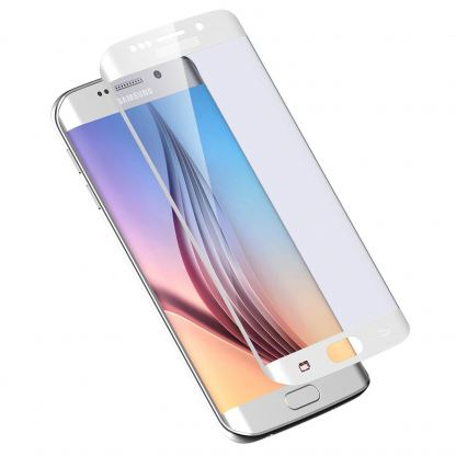 TIPX Tempered Glass Protector - калено стъклено защитно покритие за дисплея на Samsung Galaxy S6 Edge (бял)