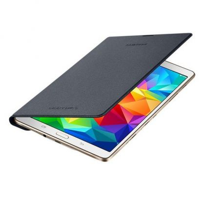 Samsung Simple Cover EF-DT700 - оригинално кожено покритие за Samsung Galaxy Tab S 8.4 (черен) 2