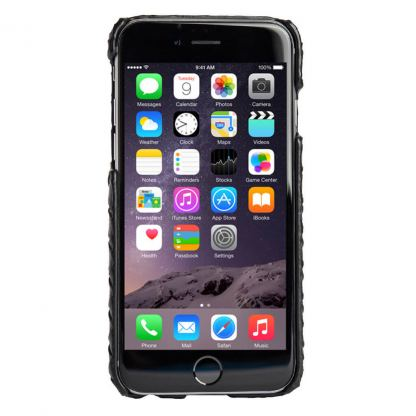 Agent18 SlimShield Black Wave - дизайнерски поликарбонатов кейс за iPhone 6S, iPhone 6 (черен) 3