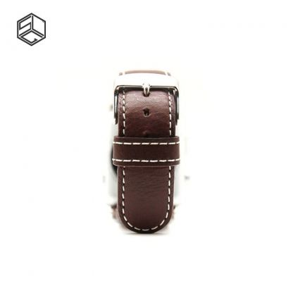 SLG G6 Stripe Leather - дизайнерска кожена каишка за Apple Watch 38 mm (кафяв) 2