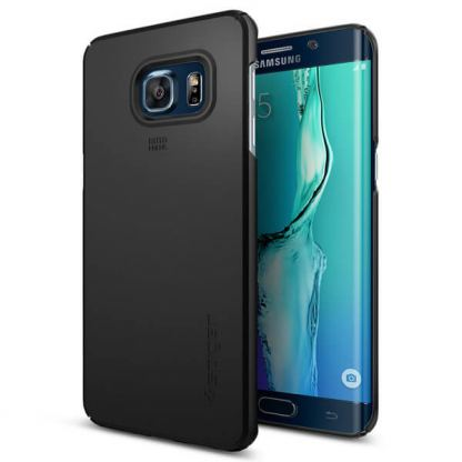 Spigen Thin Fit Case - качествен кейс за Samsung Galaxy S6 Edge Plus (черен)