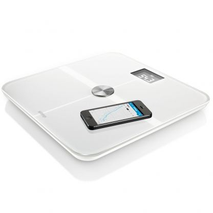 Withings Smart Wireless Body Analysis Scale - безжичен кантар с приложение за iPhone, iPad и iPod и Android (бял) 2