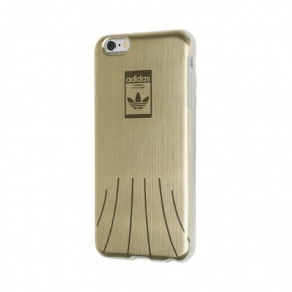 Adidas Originals 1969 Hard Case - силиконов (TPU) калъф за iPhone 6 Plus, iPhone 6S Plus (златист)
