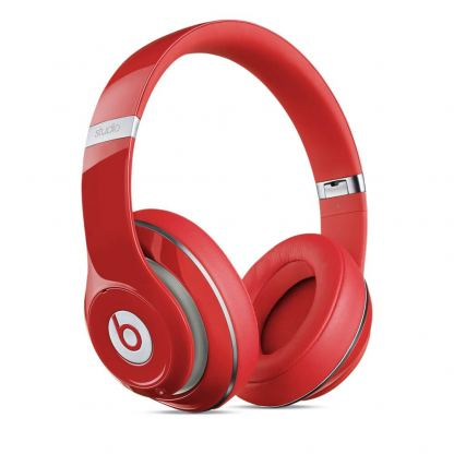 Beats by Dre Studio Wireless - професионални безжични слушалки с микрофон и управление на звука за iPhone, iPod и iPad (червен)