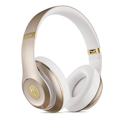 Beats by Dre Studio Wireless - професионални безжични слушалки с микрофон и управление на звука за iPhone, iPod и iPad (златист)
