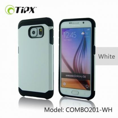 TIPX Combo Case - удароустойчив хибриден кейс за iPhone 6, iPhone 6S (бял)