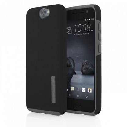 Incipio Dual Pro Case - удароустойчив хибриден кейс за HTC One A9 (черен) 3