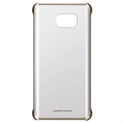 Samsung Protective Clear Cover EF-QN920CFEGWW - оригинален кейс за Samsung Galaxy Note 5 (прозрачен-златист)