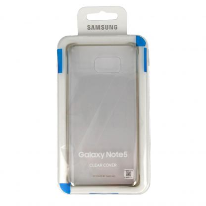 Samsung Protective Clear Cover EF-QN920CFEGWW - оригинален кейс за Samsung Galaxy Note 5 (прозрачен-златист) 2