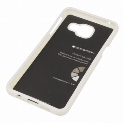 Mercury Goospery Jelly Case - силиконов (TPU) калъф за Samsung Galaxy A3 (2016) (бял) 2
