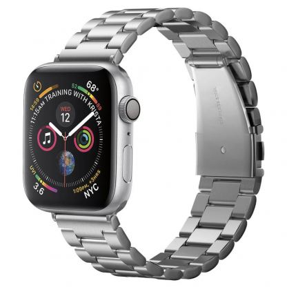 Spigen Modern Fit Band - стоманена каишка за Apple Watch 42mm, 44mm (сребрист)