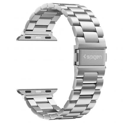 Spigen Modern Fit Band - стоманена каишка за Apple Watch 42mm, 44mm (сребрист) 2