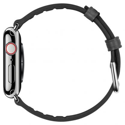 Spigen Retro Fit Band - кожена каишка за Apple Watch 42mm, 44mm (черен) 3
