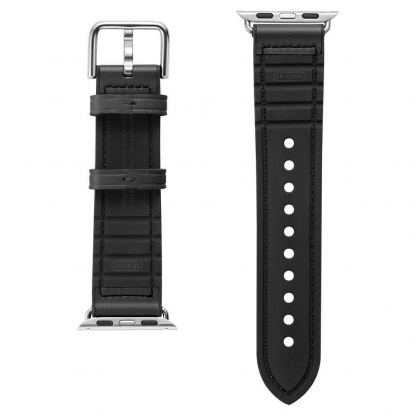 Spigen Retro Fit Band - кожена каишка за Apple Watch 42mm, 44mm (черен) 4