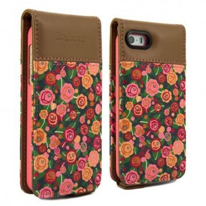Proporta Barbour Julie Dodsworth Leather Flip Case - дизайнерски кожен флип кей за iPhone SE, iPhone 5S, iPhone 5 (шарен)