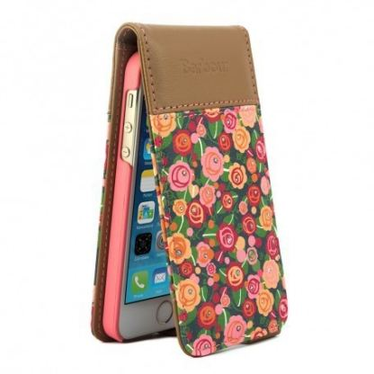 Proporta Barbour Julie Dodsworth Leather Flip Case - дизайнерски кожен флип кей за iPhone SE, iPhone 5S, iPhone 5 (шарен) 2