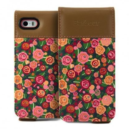 Proporta Barbour Julie Dodsworth Leather Flip Case - дизайнерски кожен флип кей за iPhone SE, iPhone 5S, iPhone 5 (шарен) 3