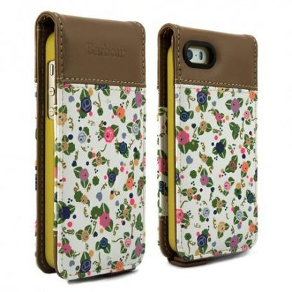 Proporta Barbour Julie Dodsworth Leather Flip Case - дизайнерски кожен флип кей за iPhone SE, iPhone 5S, iPhone 5 (цветен)