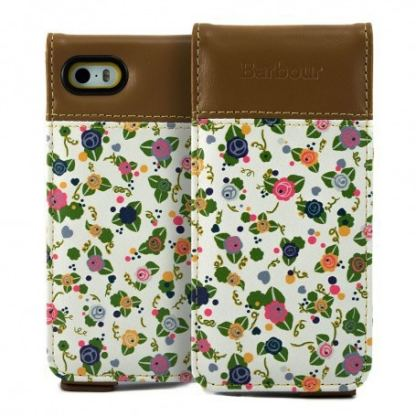Proporta Barbour Julie Dodsworth Leather Flip Case - дизайнерски кожен флип кей за iPhone SE, iPhone 5S, iPhone 5 (цветен) 2