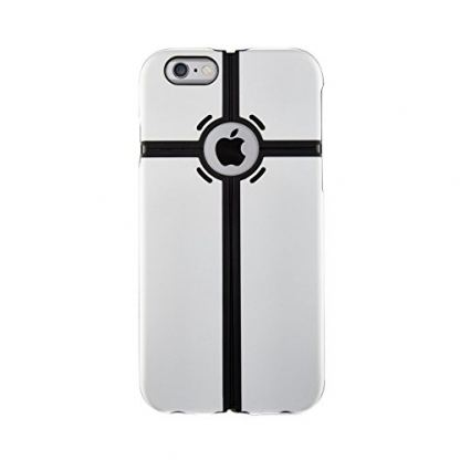 QDOS Portland Case - хибриден кейс с поставка за iPhone 6S Plus, iPhone 6 Plus (бял) 2