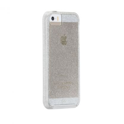 CaseMate Naked Tough Sheer Glam Case - кейс с висока защита за iPhone SE, iPhone 5S, iPhone 5 (прозрачен)