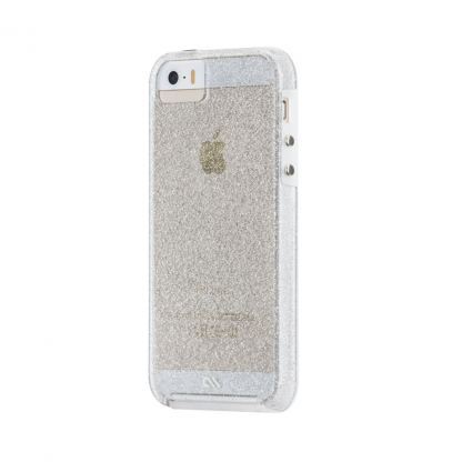 CaseMate Naked Tough Sheer Glam Case - кейс с висока защита за iPhone SE, iPhone 5S, iPhone 5 (прозрачен) 2