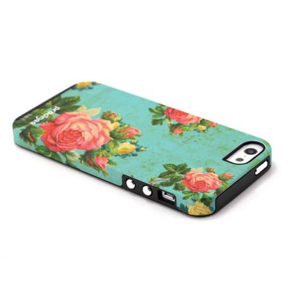 Prodigee Artee Bouquet Flower Case - хибриден удароустойчив кейс за iPhone SE, iPhone 5S, iPhone 5 4