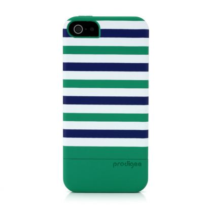 Prodigee Stripes Case - поликарбонатов слайдер кейс за iPhone SE, iPhone 5S, iPhone 5 (зелен)