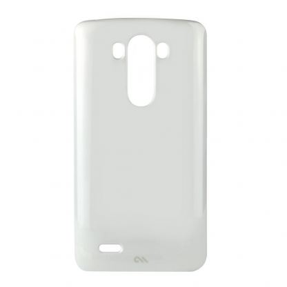 CaseMate Barely There - поликарбонатов кейс за LG G3 (бял) 3