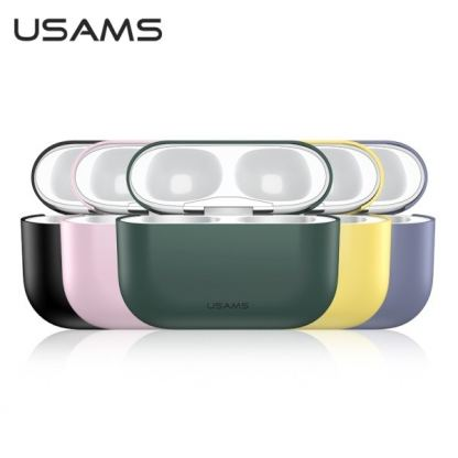 USAMS Ultra-Thin Silicone Case - силиконов калъф за Apple Airpods Pro (зелен) 2