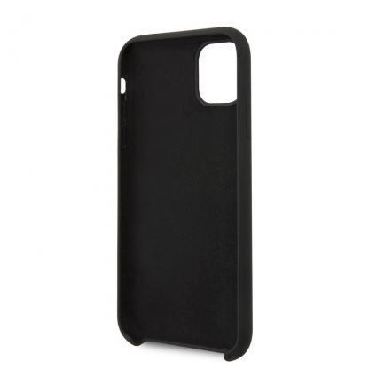 Guess Hard Silicone Case - силиконов (TPU) калъф за iPhone 11 (черен) 3