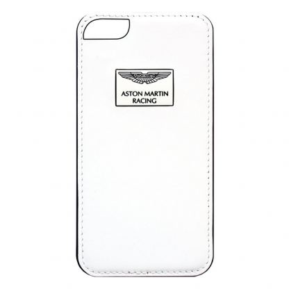 Aston Martin Racing Case - луксозен кожен кейс за iPhone 6S, iPhone 6 (бял)