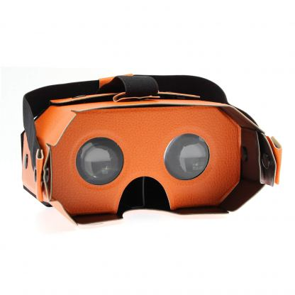 4smarts Basic Portable Universal VR Leather Glasses - очила за виртуална реалност за iOS и Android (оранжев) 2