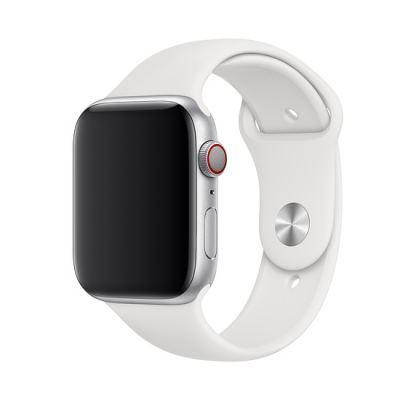 Apple Sport Band M/L - оригинална силиконова каишка за Apple Watch 42мм, 44мм (бял) (bulk)