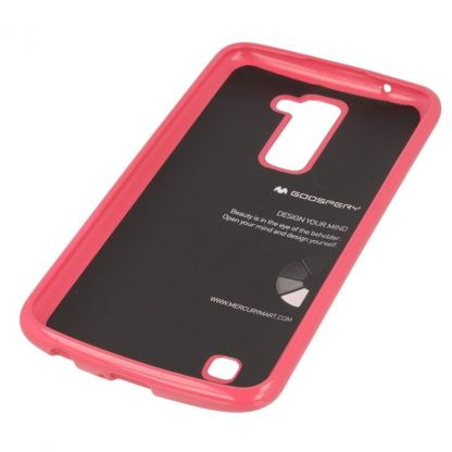 Mercury Goospery Jelly Case - силиконов (TPU) калъф за LG K10 (розов) 2