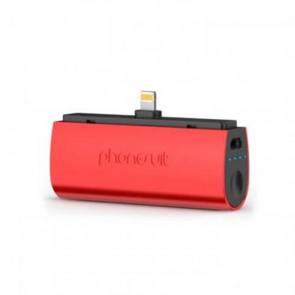 PhoneSuit Flex XT Pocket Charger - външна батерия 2600 mAh за iPhone, iPad и iPod с Lightning (червен)