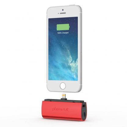 PhoneSuit Flex XT Pocket Charger - външна батерия 2600 mAh за iPhone, iPad и iPod с Lightning (червен) 3