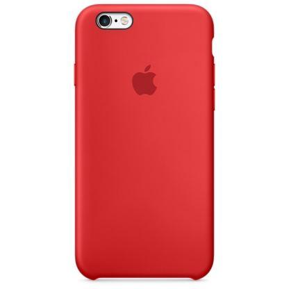 Apple Silicone Case - оригинален силиконов кейс за iPhone 6, iPhone 6S (тъмночервен)