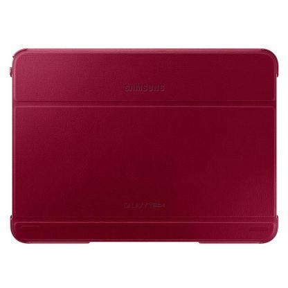 Samsung Book Cover Case - хибриден кожен калъф и поставка за Samsung Galaxy Tab 4 10.1 SM-T530/SM-T535 (червен)