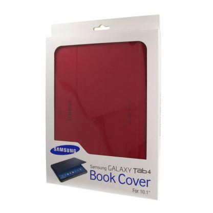 Samsung Book Cover Case - хибриден кожен калъф и поставка за Samsung Galaxy Tab 4 10.1 SM-T530/SM-T535 (червен) 3