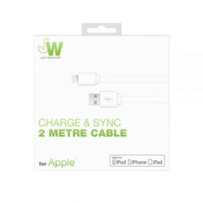 Just Wireless Lightning USB Cable - USB кабел за iPhone, iPad и устройства с Lightning порт (2 метра) 2