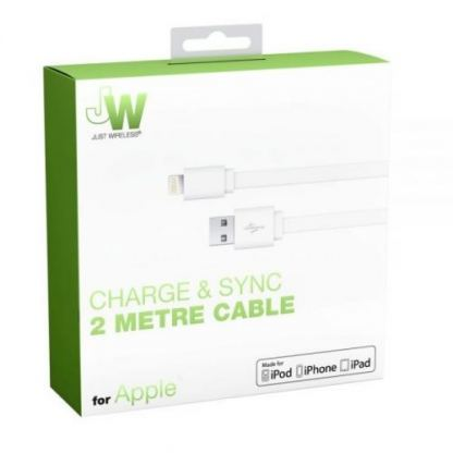 Just Wireless Lightning USB Cable - USB кабел за iPhone, iPad и устройства с Lightning порт (2 метра) 3