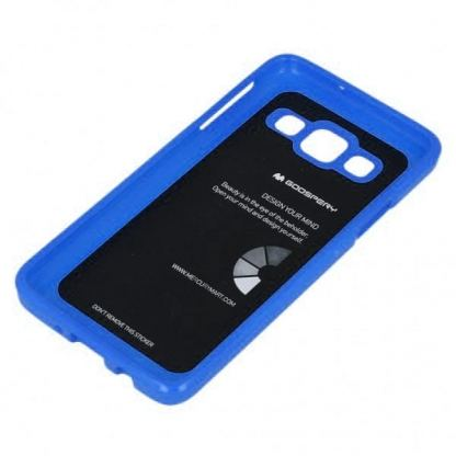 Mercury Goospery Jelly Case - силиконов (TPU) калъф за Samsung Galaxy J3 (2016) (син)