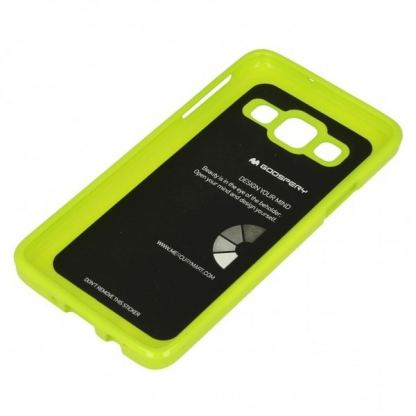 Mercury Goospery Jelly Case - силиконов (TPU) калъф за Samsung Galaxy J3 (2016) (лайм) 2