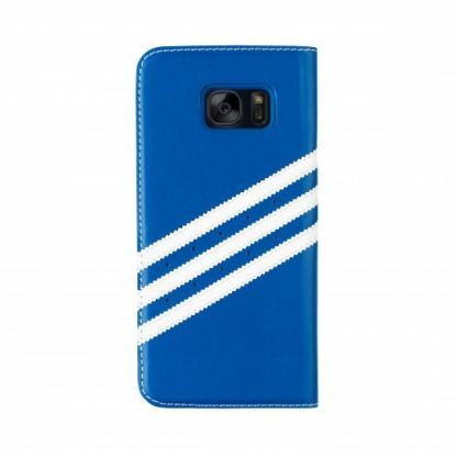 Adidas Originals Booklet Case - хоризонтален кожен калъф за Samsung Galaxy S7 Edge (син) 2