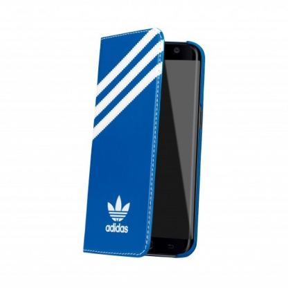 Adidas Originals Booklet Case - хоризонтален кожен калъф за Samsung Galaxy S7 Edge (син) 3